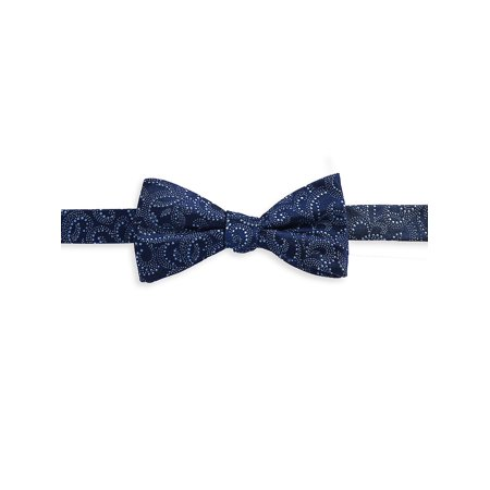 - Textured Swirl Silk Bow Tie