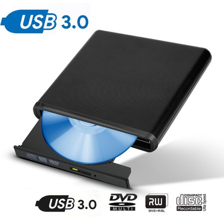 External CD Drive USB 3.0 Portable Slim External DVD Drive, External 3.0 optical drive(DVD +R/-R:MAX 8X,DVD +RW/-RW:MAX 8X/MAX 6X,CD-R/RW:MAX 24X,DVD-RAM:MAX 5X)(A (Best Usb 3.0 External Optical Drive)