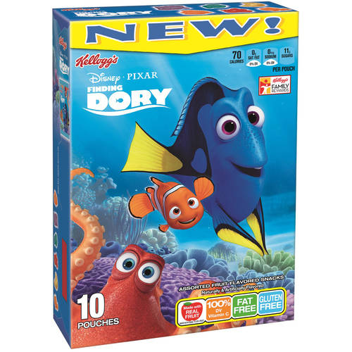 Kellogg's Disney/Pixar Finding Nemo Fruit Assorted Flavored Snacks, 10 count, 8 oz