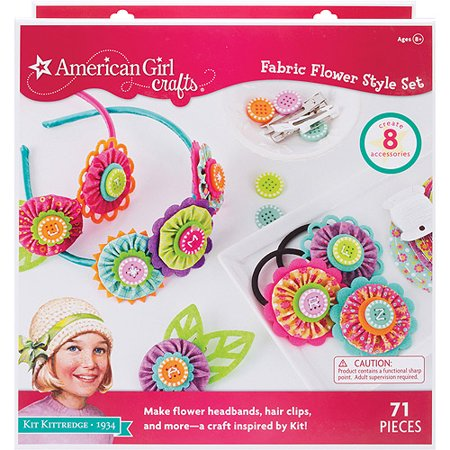 American girl crafts kit kittredge fabric flower kit for American girl craft kit