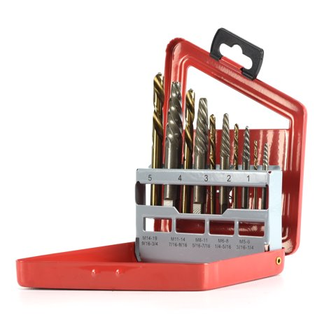 Neiko 01925A 10 Piece Screw Extractor and Left Hand Drill Bit Set Drill Bit Set 10 Piece
