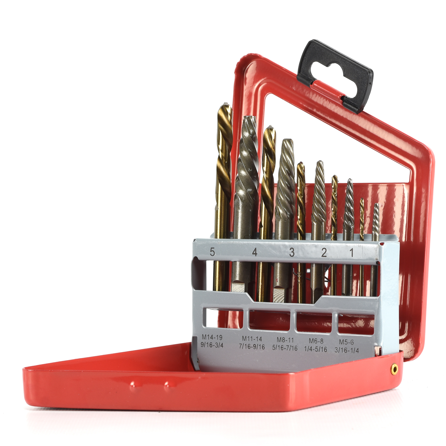 Neiko 01925A 10 Piece Screw Extractor and Left Hand Drill Bit Set