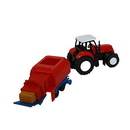 1:32 Kubota Farm Tractor And Trailer - image 1 of 4
