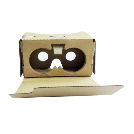 """Portable Head-Mounted DIY Cardboard V2.0 3D Glasses 3D VR Virtual Reality Video Glasses for Up to 6"""" Smart Phones"""