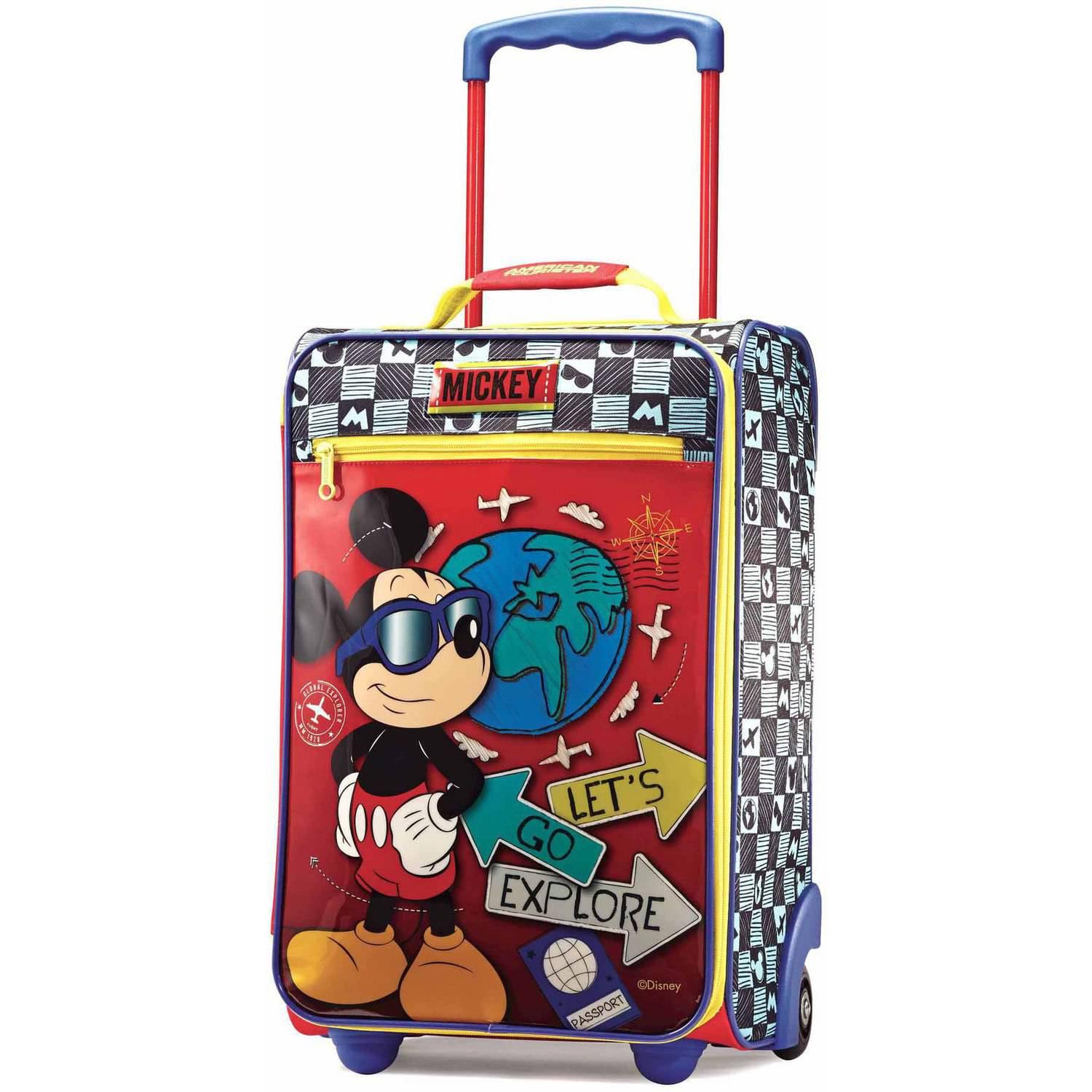 "American Tourister Disney Mickey Mouse 18"" Upright Soft Side Suitcase"
