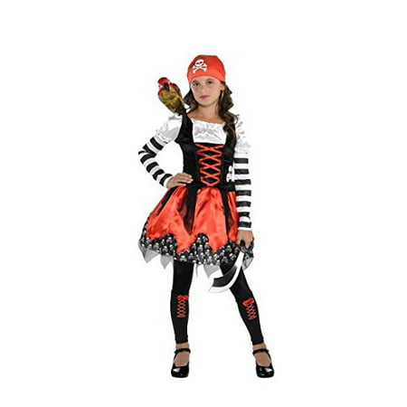 Girls Cross Bone Pirate Cutie Child Costume - 3 Piece Set | Amscan - Diy Little Girl Pirate Costume