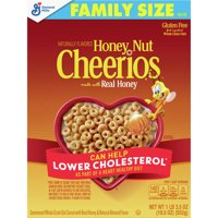 Honey Nut Cheerios, Oats Cereal, Gluten Free, 19.5 oz