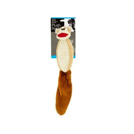Bulk Buys OF788-2 Plush Animal Squeak Dog Toy with Crinkle Tail, 2 - image 1 of 1