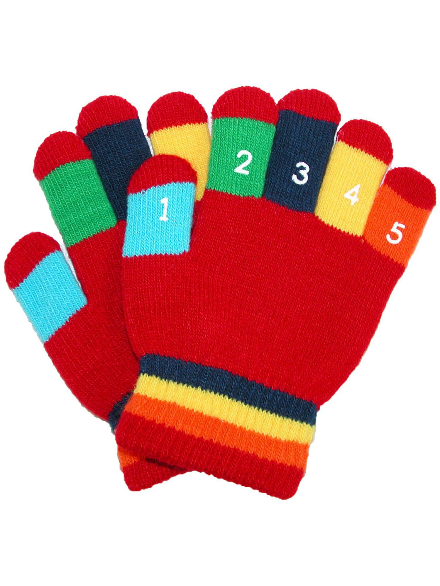 Blue Grand Sierra Toddler 2-4T Knit Stretch Counting Gloves