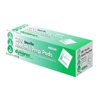 Dynarex Sterile Alcohol Prep Pad, Medium, 100 Count