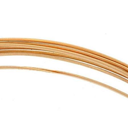 - 14K Gold Filled Wire Half Round/Half Hard 20 Gauge-(5 Feet)