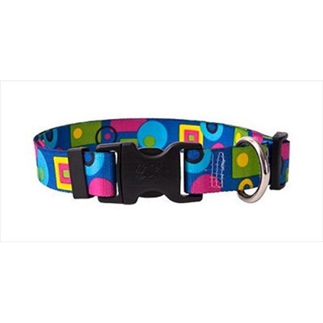 Yellow Dog Design BLG100XS Blue Geometric Standard Collar - Extra Small