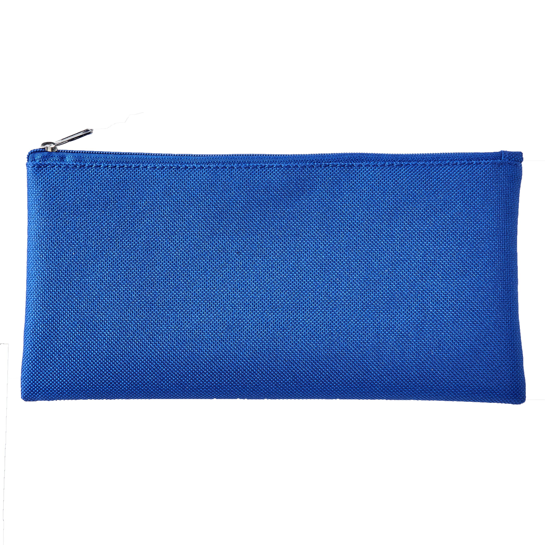 "Pen + Gear Cloth Zipper Pencil Pouch, Pencil Case, Blue, 8.75"" x 4.25"""