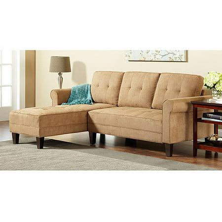 10 spring street ashton sectional sofa sand walmartcom for Sectional sofas at walmart
