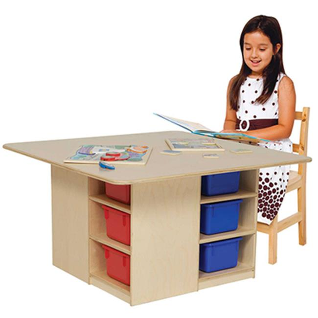 Wood Designs 85003AP Cubby Table With 12 Assorted Pastel Trays