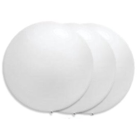36 Inch Giant White Latex Balloons By Tuftex  Premium Helium Quality  Pkg 3