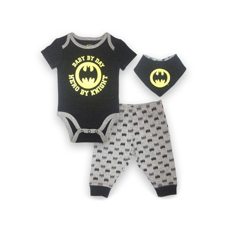 Batman Bodysuit, Pant and Bib Set, 3 pc Set (Baby - Batman And Baby