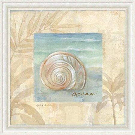 buyartforless Framed Island Shell I by Cynthia Coulter Poster Wall Art