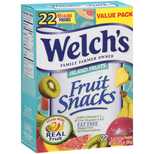 Welch's Fruit Snacks Island Fruits, .9 oz, 22 count
