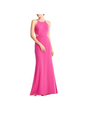 Aidan by Aidan Mattox Womens Crepe Cut-Out Evening Dress