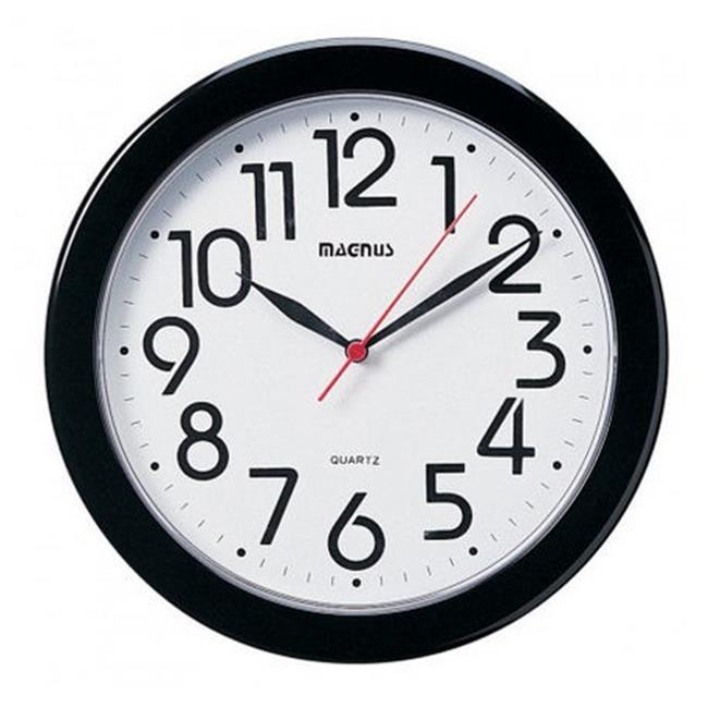 10 in. Round Wall Clock - Black - image 1 of 1