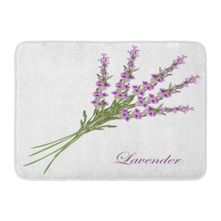 GODPOK Antiques Vintage Lavender Bouquet As Retro Style France Provence Wedding Birthday Rug Doormat Bath Mat 23.6x15.7 inch ()