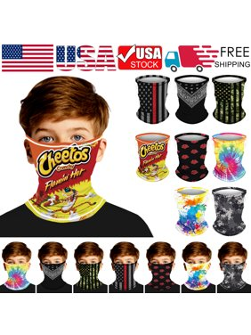 3D Camouflage Balaclava Bandana Kids Children Boys Girls Face Mask Breathable Cooling Neck Cover Gaiter Stretch Scarf Motorcycle Hiking Walking UV Protection Sports Cycling Running Wristband Headband