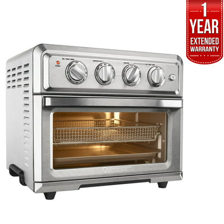Cuisinart TOA-60 Convection Toaster Oven Air Fryer with Light, Silver w/ 1 Year Extended