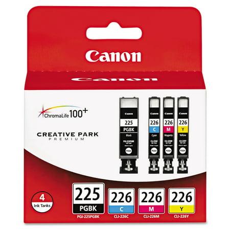 Canon 4530B008AA (PGI-225, CLI-226) Ink, Cyan/Magenta/Pigment Black/Yellow, 4/PK -CNM4530B008 (Canon 42 Yellow Ink)