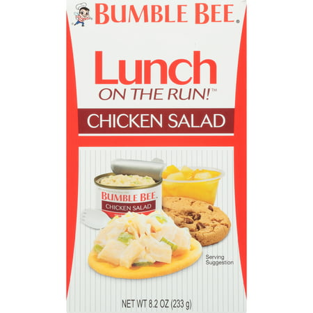 (3 Pack) Bumble Bee Lunch on the Run! Chicken Salad with Crackers, Good Source of Protein, 8.1oz