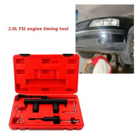 Yosoo Engine Locking Timing Tool,7pcs Car Engine Camshaft Alignment Timing Tool Kit for AUDI VW 2.0L FSi Timing Setting Tool - image 3 of 9