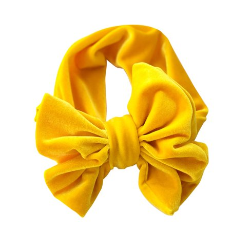 Beauty Baby Girls Infant Toddler Flower Bow Headband Hair Band Accessories Yellow - Flowergirl Accessories