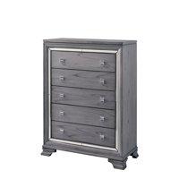 Furniture of America Hariston Mirror-Trimmed 5-Drawer Chest