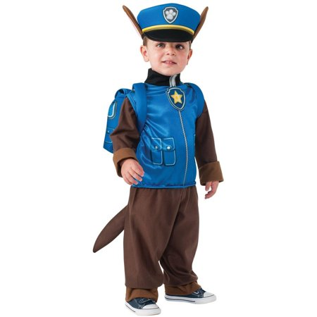 Paw Patrol Chase Child Halloween Costume, Size Small (4-6) - Birth Control Halloween Costume