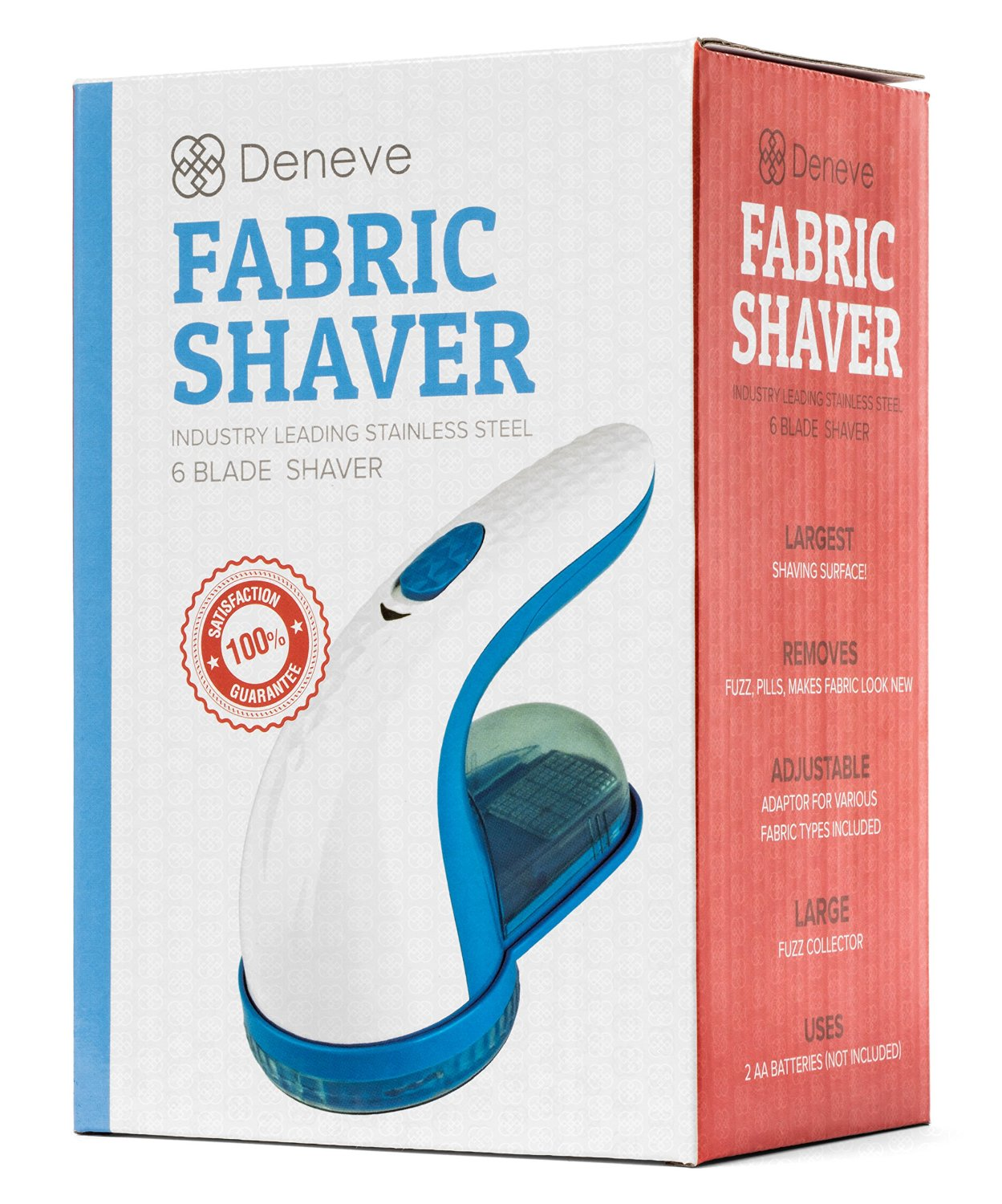 Fabric Shaver By Deneve   Best Electric Large Lint Sweater Buster Fabrics  Fuzz Remover   Perfect Gift For Clothes Pilling Defuzzer Battery Operated  With ...