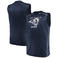 Men's Majestic Navy Los Angeles Rams Big & Tall Endurance Test Muscle Tank Top