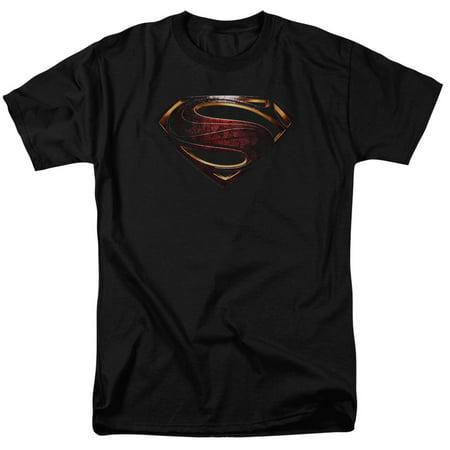 Justice League Movie Superman Logo Mens Short Sleeve Shirt - Mens Superman
