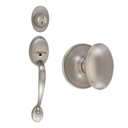 Design House 740928 Coventry 2 Way Adjustable Entry Knob Set with Egg
