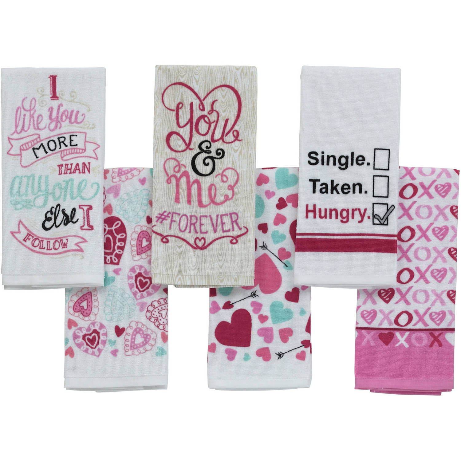 Valentine's Day Print Kitchen Towel
