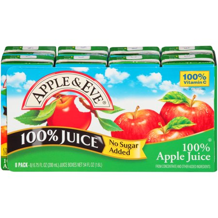 (5 Pack) Apple & Eve® 100% Apple Juice 8-6.75 fl. oz. Aseptic Packs