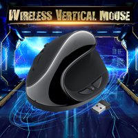 AUGIENB Wireless Ergonomic USB 2.4GHz Vertical Mouse Optical Sensor 6 Buttons 800/1200/1600DPI Adjustable Mice for PC Laptop Desktop Notebook Computer
