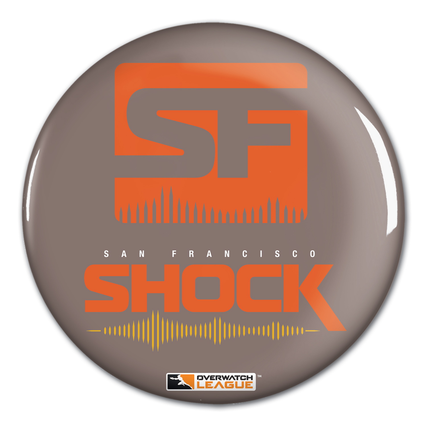 "San Francisco Shock WinCraft Team Logo 1.25"" Button Pin - No Size"