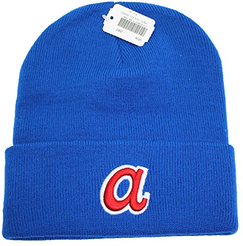 MLB Atlanta Braves Cuffed Knit Beanie Hat Blue
