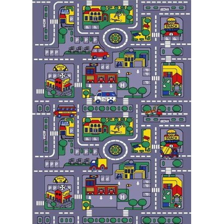 Kids Rug City Map 5' X 7' Children Learning Carpet (59