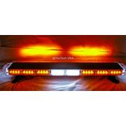 "44"" Amber LED Emergency Light Bar Flashing Tow/Plow Truck Wrecker w/ Take Down & Alley Lights"