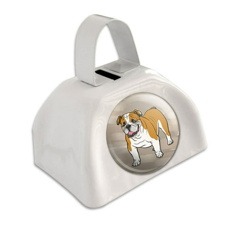 Blue Cow Bells (English Bulldog Pet Dog White Cowbell Cow)