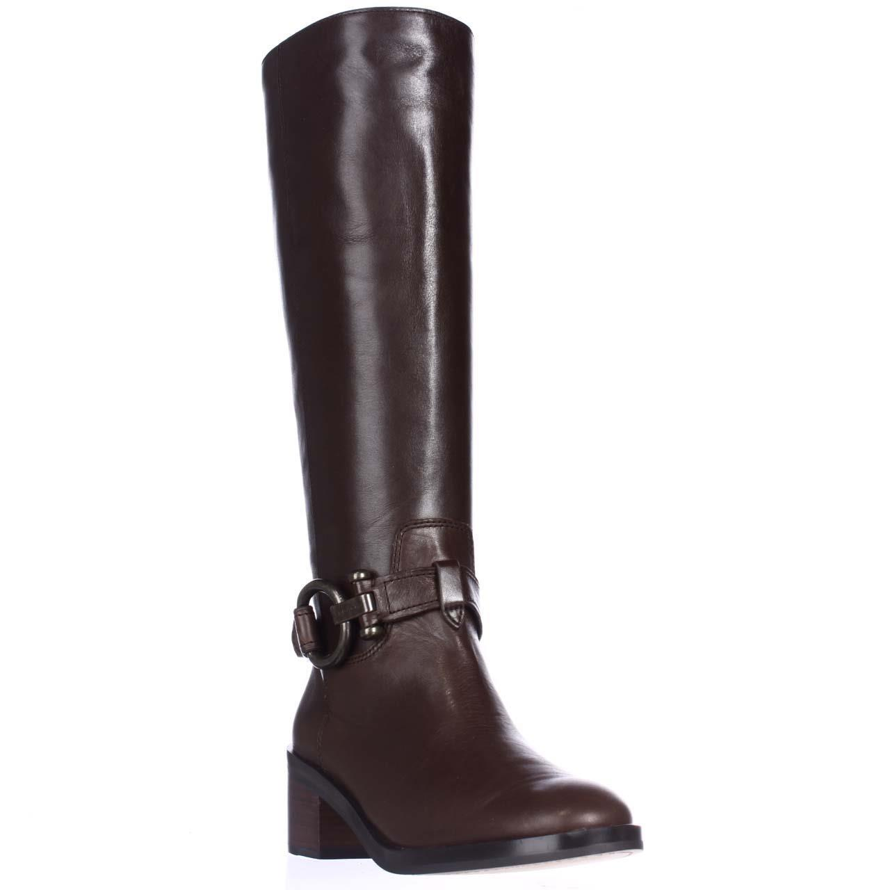 Womens Coach Carolina Knee-High Riding Boots - Chestnut