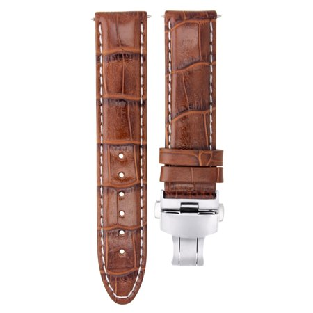 20MM LEATHER WATCH STRAP BAND CLASP FOR CITIZEN ECO DRIVE BL5250-02L L/BROWN WS #7 Eco Drive Leather Strap