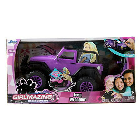Jada Toys GIRLMAZING Big Foot Jeep R/C Vehicle (1:16 Scale), Purple