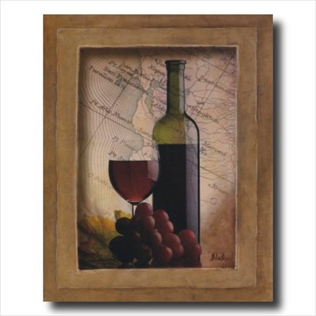 Garden Tuscan Art (Grapes And Wine Kitchen Tuscan Wall Picture Art Print )